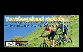 fahrradwarenkorb Webseiten Screenshot