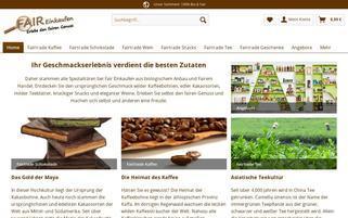 fair-einkaufen.com Webseiten Screenshot