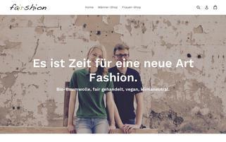 Fairshion Webseiten Screenshot