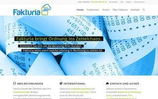 fakturia.de Webseiten Screenshot