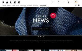 falke.com Webseiten Screenshot