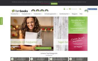 Fambooks Webseiten Screenshot