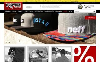 Fame Boardshop Webseiten Screenshot
