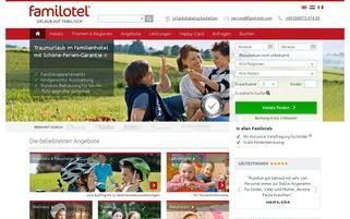 Familotel Webseiten Screenshot