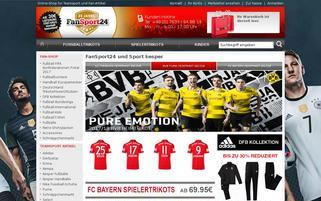 Fansport24 Webseiten Screenshot