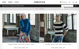 Farfetch Webseiten Screenshot
