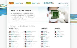 Farnell Webseiten Screenshot