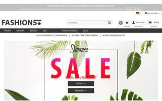Fashion5 Webseiten Screenshot