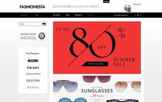 Fashionesta Webseiten Screenshot