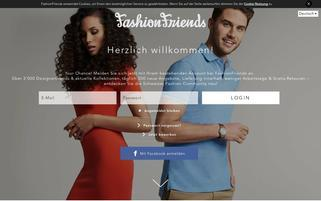 FashionFriends Webseiten Screenshot