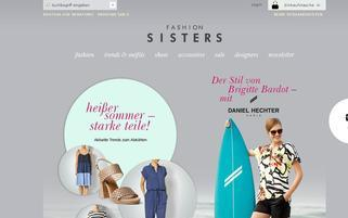 Fashionsisters Webseiten Screenshot