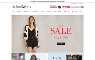 FashionVestis Webseiten Screenshot