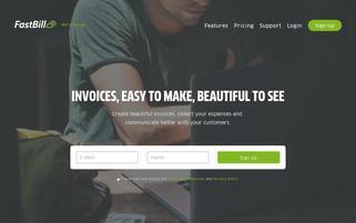 Fastbill Webseiten Screenshot