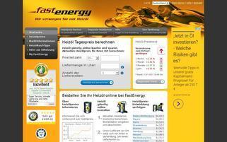 Fastenergy Webseiten Screenshot