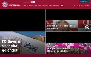 FC Bayern Webseiten Screenshot