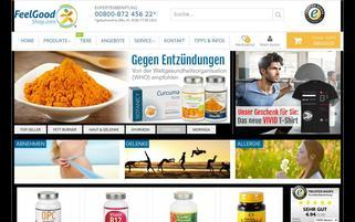 Feelgood Shop Webseiten Screenshot