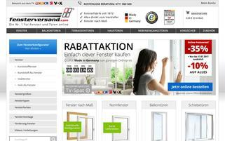 Fensterversand Webseiten Screenshot
