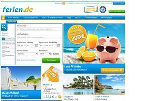ferien.de Webseiten Screenshot