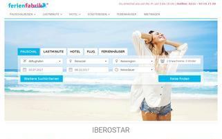 Ferienfabrik Webseiten Screenshot
