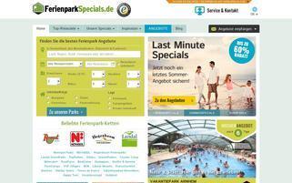 Ferienpark Specials Webseiten Screenshot