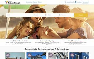 Ferienwohnungen.com Webseiten Screenshot