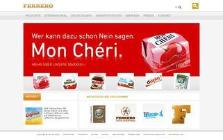 Ferrero Webseiten Screenshot