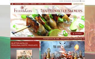 Feuer und Glas Webseiten Screenshot