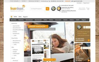 Feuerdepot Webseiten Screenshot