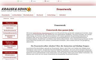 Feuerwerk Krause und Sohn Webseiten Screenshot