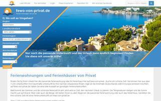 Fewo von Privat Webseiten Screenshot