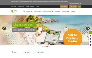 Fidor Bank Webseiten Screenshot