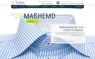 Fine Cotton Company Webseiten Screenshot
