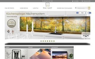 FineArtPrint Webseiten Screenshot
