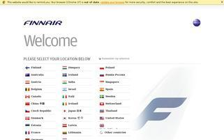 Finnair Webseiten Screenshot