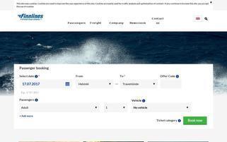 Finnlines Webseiten Screenshot