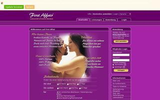 First Affair Webseiten Screenshot