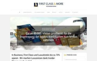 First Class And More? Webseiten Screenshot