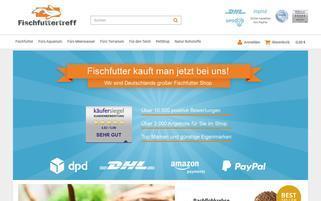 Fischfuttertreff Webseiten Screenshot
