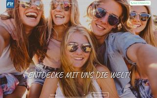 Fit Jugendreisen Webseiten Screenshot