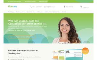 fitforme.de Webseiten Screenshot