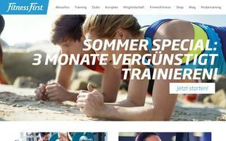 Fitness First Webseiten Screenshot
