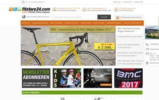 Fitstore24 Webseiten Screenshot