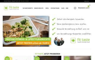 fittaste Webseiten Screenshot