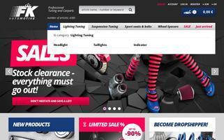 FK Automotive Webseiten Screenshot