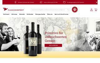 Flaschenpost Webseiten Screenshot
