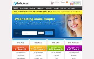 flatbooster.com Webseiten Screenshot