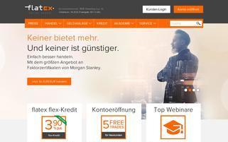 flatex Webseiten Screenshot