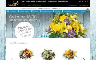 Fleurop CH Webseiten Screenshot