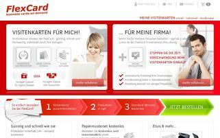 FlexCard Webseiten Screenshot