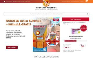 Fliegende Pillen Webseiten Screenshot
